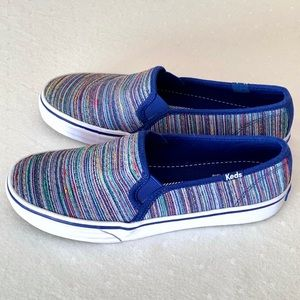 Keds Multi-Color Woven Slip Ons